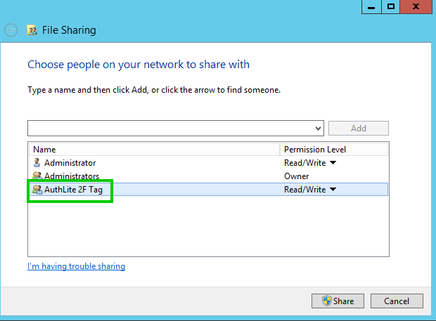 Fig. 1) File sharing by Allow 2F Tag